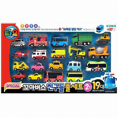 [Tayo] Little Bus Friends 19 pcs Mini Car Full Set-2nd Edition Police [expedite]