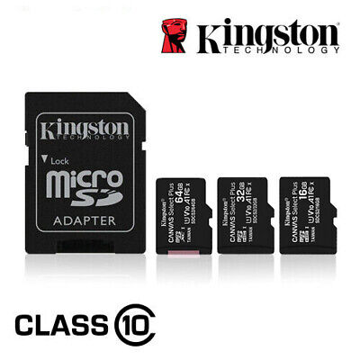 Kingston Micro SD Card 16GB 32GB 64GB 128GB TF Class 10 Android Nintendo Samsung Cell Phone Accessories