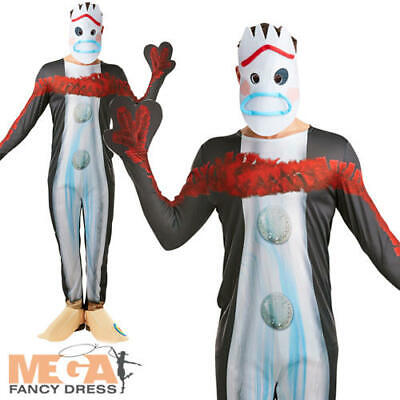Forky Mens Fancy Dress Disney Toy Story 4 Utensil Character Adult Costume Outfit - Disney Character Fancy Dress Adults
