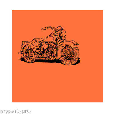 HAWG MOTORCYCLE Paper Lunch Napkin Birthday Party supplies free shipping - Motorcycle Birthday Party Supplies