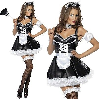 Ladies Flirty French Maid Fancy Dress Costume Womens Outfit by Smiffys New](French Maid Outfit)