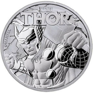 1 oz Pièce Argent Pur Tuvalu Thor Marvel Series Silver Coin (BU)