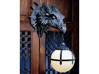 Wall Sconce Lighting Lamp Medieval Dragon Talon Sculpture Halloween Gothic Decor