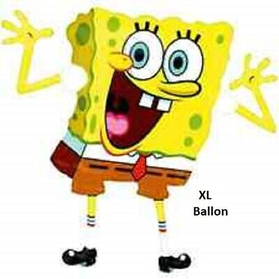 Spongebob Schwammkopf Folienballon XXL 80 cm  Kindergeburtstag Party Deko Event