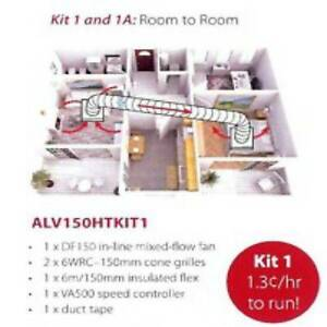 Heat Transfer Kit- 1 room to another ALV150HT Allvent system Erina Gosford Area Preview