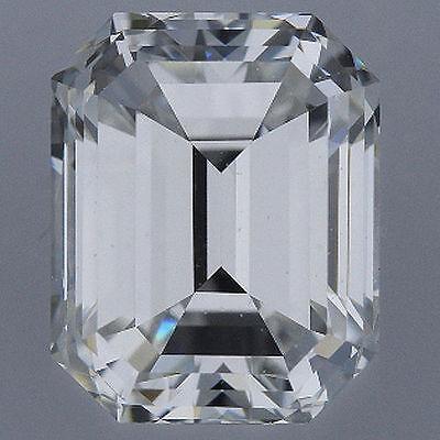 1.52 carat Emerald cut Diamond GIA G color VS2 clarity no flour. Excellent loose