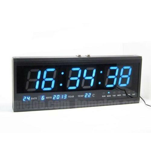 modern digital clock led ebay. Black Bedroom Furniture Sets. Home Design Ideas