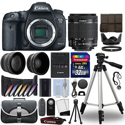 Canon 7D Mark II DSLR Camera + 18-55mm IS STM 3 Lens Kit + 32GB Best Value