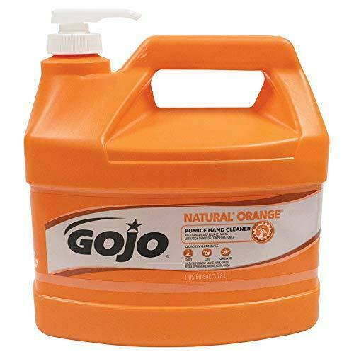 GOJO NATURAL ORANGE Pumice Industrial Hand Cleaner, 1 Gallon Quick Acting Lotion