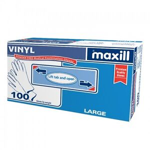 maxill Vinyl gloves- Powdered or Powder Free, Medical Grade