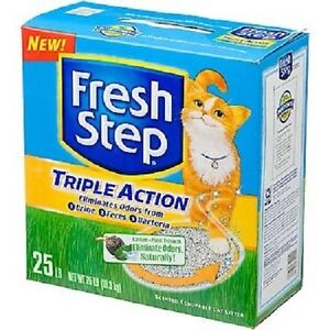 Fresh Step Triple Action Scoopable Cat Litter 25lb bag