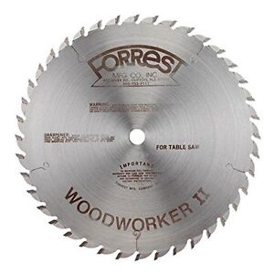 Forrest WW10407125 Woodworker II 10-Inch 40 Tooth ATB .125 Kerf Saw Blade