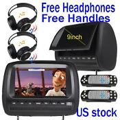 Dual Car Headrest DVD Player