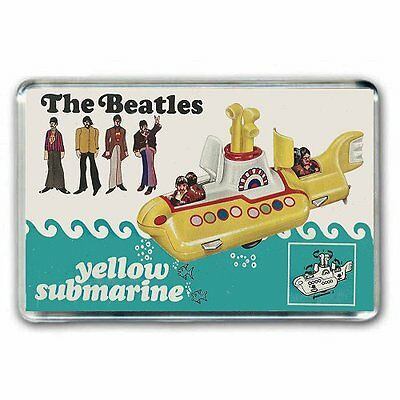 CORGI TOY ARTWORK-  THE BEATLES _YELLOW SUBMARINE  -GIFT SET JUMBO FRIDGE MAGNET