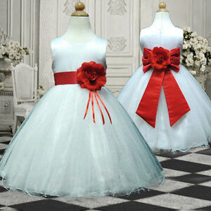 UKMD57-Red-Christmas-Wedding-Pageant-Baby-Gift-Flower-Girls-Dress-1-13-Yrs