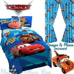 details about disney cars 2 boys blue full size bedding comforter set