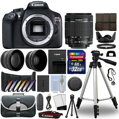 Canon EOS Rebel T6 DSLR Camera + 18-55mm IS II 3 Lens Kit + 32GB Best Value