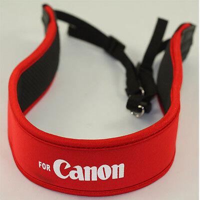 Wide Neck Strap RED For Canon 7D 5D 6D II T7I T6S T6 T6I 77D 800D 750D G7 G9 G5