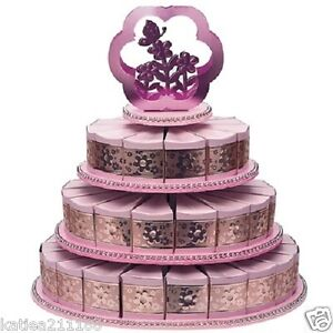 latest wedding cake boxes new wedding or baby shower pink flower 3 tier cake stand 5414
