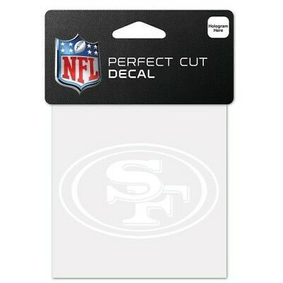 SAN FRANCISCO 49ERS WHITE PERFECT CUT DECAL 4