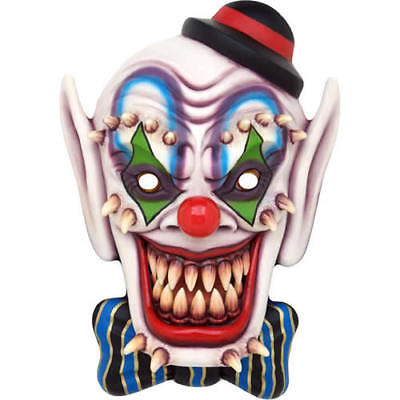 Horror Clown Halloween Celebrity Fright Night Card Mask - Our Masks Are Pre-Cut](Halloween Celebrity Masks)