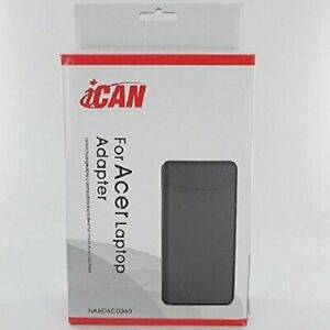 iCAN Replacement Acer AC Adapter 65 Watt 19V 3.42A
