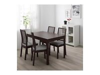A beautiful modern dining table