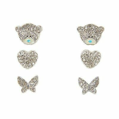 Me to You Tatty Teddy - Set of 3 Earrings with Crystal Stones Gift Jewellery