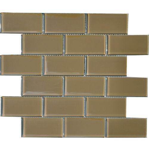 Brown Glass Tile Kitchen Backsplash: Brown Glass Backsplash: Tile & Flooring