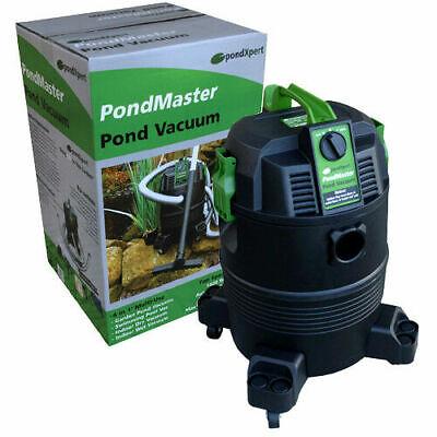 PondXpert PondMaster Pond Vacuum 1400w 35L Hoover Vac Leaves Silt Sludge Remover