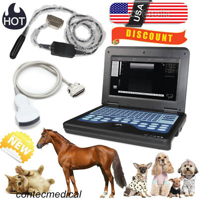 Vet Veterinary Ultrasound Scanner Portable Laptop Machine 2 Probes Rectalconvex