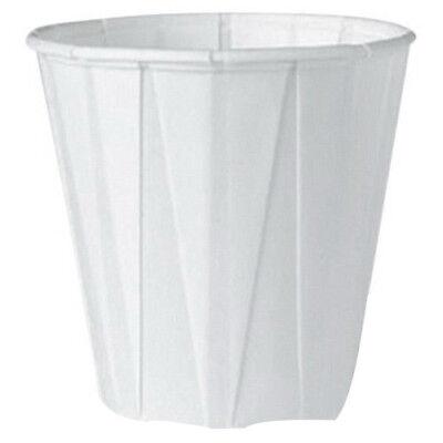 Gnpf050 - Genpak Squat Paper Portion Cup Pleated .5 Oz White 5000 Per Case