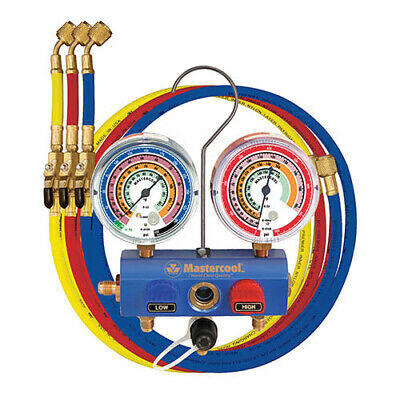Mastercool 59672 R410ar22r404a 38 Ball Valve 2-way Manifold Set