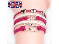 18 Style Anchor Love Bracelets&Bangles Owl Swallow Rudder Men Jewelry Leather Pulseras Women Vintage