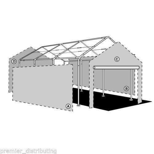 Garage Canopy With Enclosure Walls : Car canopy ebay