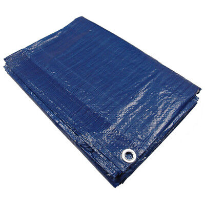 Blue All Purpose Water Resistant Tarp -Economy- Hurricane Relief - Free Shipping