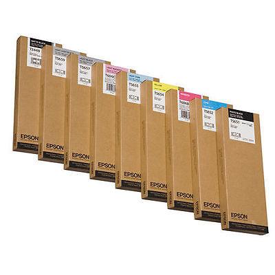 8 x Original EPSON Tinte Stylus Pro 4880 / T6069 T6067 T6066 T6065 T6061 INK SET