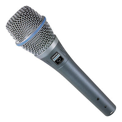 Shure Beta 87A Condenser Supercardioid Vocal Microphone. U.S