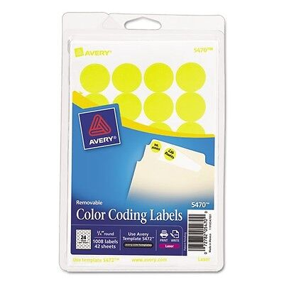 Avery Print Or Write Removable Round Color Coding Labels