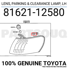 8162112580 Genuine Toyota LENS, PARKING & CLEARANCE LAMP