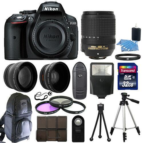 nikon-d5300-digital-slr-camera-black-3-lens-kit-18-140mm-vr-lens-32gb-bundle