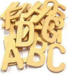 Uppercase Wooden script style letter templates set of 26