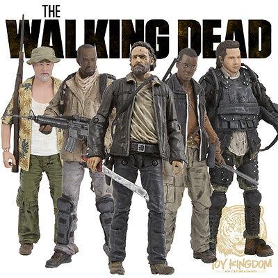 McFarlane The Walking Dead TV Series 8 COMPLETE SET OF 5 Action Figures IN (Walking Dead Tv Series 5 Action Figures)
