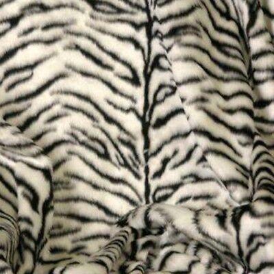 Plüsch-Stoff Kunstfell Imitat | TIGER schwarz weiß | Deko Kostüm Fursuit Cosplay