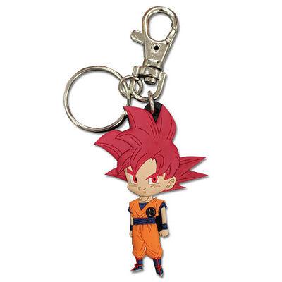 - Dragon Ball Super SD SSGSS Super Saiyan God Red Goku PVC Keychain Official Legit