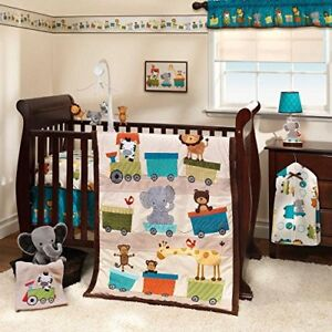 4 Pieces Bedding Set for Crib Lamb &Ivy