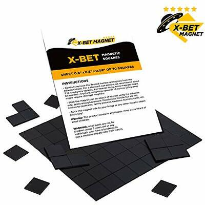 Magnetic Squares - 1 Tape Flexible Magnetic Sheet Of 70 Self Adhesive Magnetic