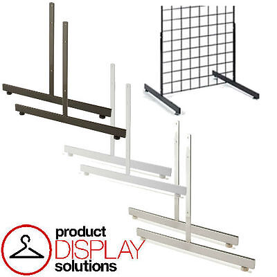 Box Of 2 Grid Gridwall T Shaped Legs Base Grid Stand Blackwhite Or Chrome