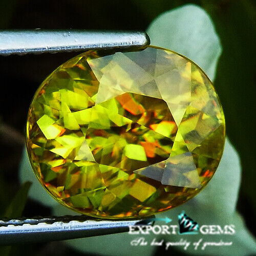UNHEATED 5.70CT NATURAL YELLOW OVAL SPHENE