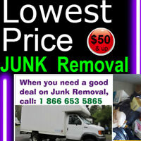 Guaranteed Lowest Price for: JUNK Removal = 1866 653 5865
